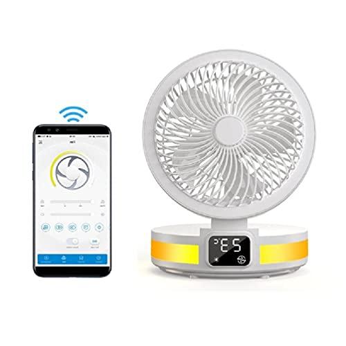 Ventilador de escritorio con aplicación LED para aromaterapia, 4 niveles, ajustable, para casa, dormitorio, coche, oficina, mini ventilador de mano