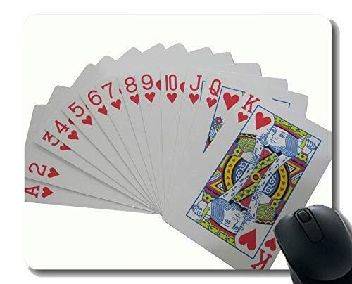 Kundengebundenes Gummi Mousepad, Pokerkarte Gummi Mousepad genähte Grenze