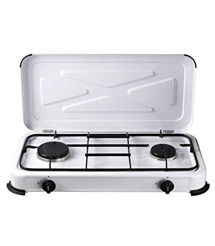 Papillon 8145045 Cucina a Gas, con 2 fuochi, Colore: Bianco