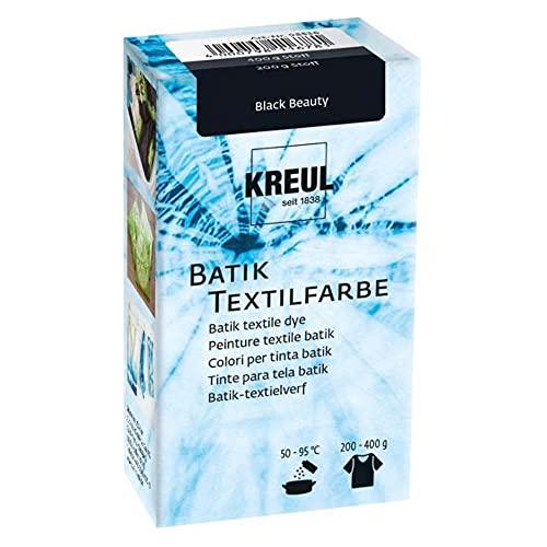 Kreul 98536 - Batik-Textilfarbe Black Beauty, 70 g, Farbpulver zum Batiken und Färben von Textilien