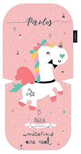 Pirulos 70513204 - Colchoneta oval microfibra diseño unicornio, color rosa