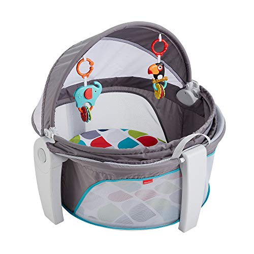 Fisher-Price Baby Gear Mini Lettino Go, Box per Neonati, Portatile da Interno e Esterno, FWX16