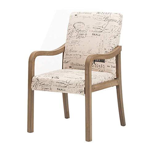 YLCJ Sedie stoelhoes gemaakt van massief hout met rugleuning, moderne stoel in Scandinavische stijl, restaurant hotel Studio (donkergrijs) English
