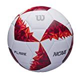 Wilson WTE4950XB05 Balón de Fútbol, Flare, Diseño Gráfico Especial, Ncaa, Blanco/Rojo