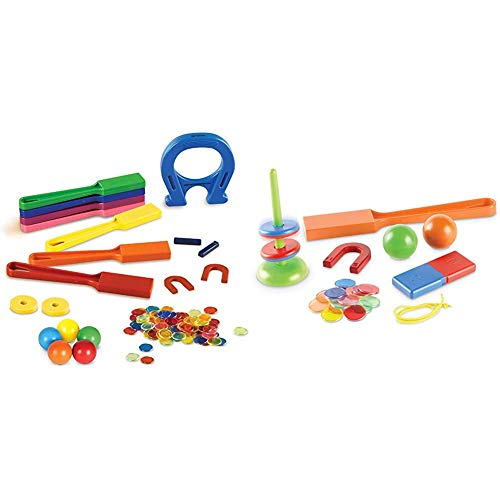 Learning Resources Super Magnet Lab Kit, STEM Toy, Critical Thinking, 119 Pieces, Ages 5+ & STEM Explorers: Magnet Movers, 39 Pieces