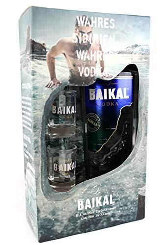 Baikal Vodka in Geschenkverpackung, 40% vol. 0,7L mit 2 Shot Gläser