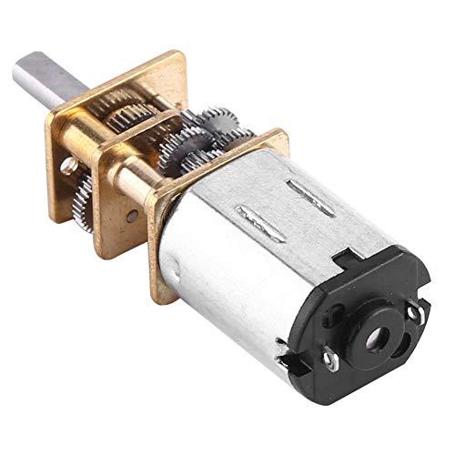 Motor de engranajes de corriente continua Mini caja de cambios eléctrica de metal 6 V Micro reductor de velocidad con eje de 3 mm para rueda de Robot (6 V 20 RPM)