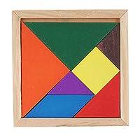 Lweitech 木製の3次元パズルボードDIYキッズ赤ちゃんの教育木製のおもちゃ、ランダムな色の配達 ハイエンドの製品