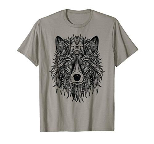 Spiral Direct WOLF ROSES Front Print T-shirt Wolves//Purple//Wild//Tattoo//Tribal