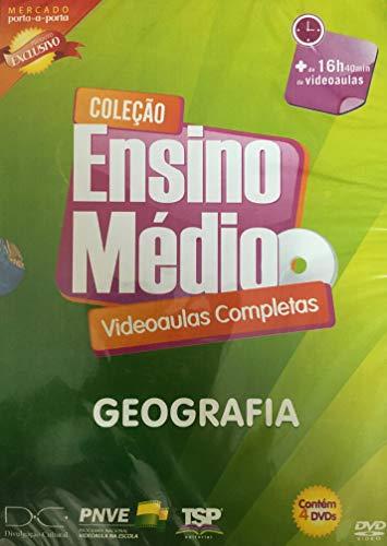 Coleção Ensino Médio Videoaulas Completas - Geografia 4 Dvds