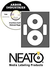 CD DVD Printable Labels - Econo Matte Finish - 100 Disc Labels and 100 Utility Spine and Case Sticker Labels - Online Design Maker Software Included by Neato