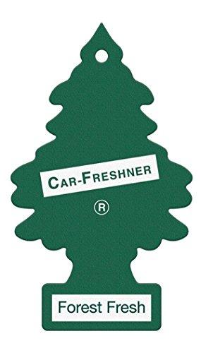 LITTLE TREE Arbolito Ambientador árbol mágico Bosque Verde Aroma Fresco de Espejo de visión Trasera del Coche Dangler Pack de 5