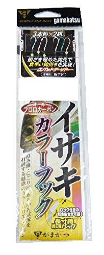 がまかつ(Gamakatsu) イサキカラーフック3本仕掛 F112 1.75号
