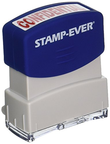 Stamp-Ever Pre-Inked Message Stamp, Confidential, Stamp Impression Size: 9/16 x 1-11/16 Inches, Red (5944)