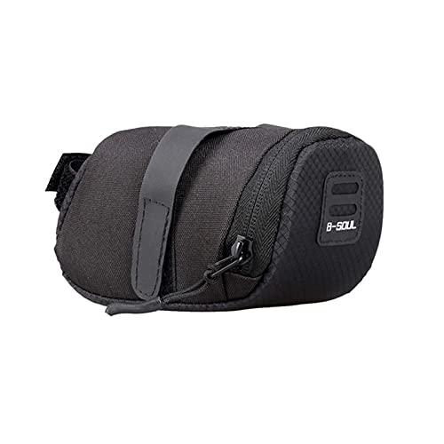 Bolsa de bicicleta trasera, bolsa de sillín, almacenamiento impermeable para accesorios de gran capacidad.tipo correa. Cómodo de llevar, adecuado para bicicletas de montaña, paseos al aire libre