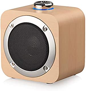 SODIAL Wooden Speaker Bass Subwoofer Phone TWS Internet Home Outdoor Portable Audio Phone Universal Bamboo Grain