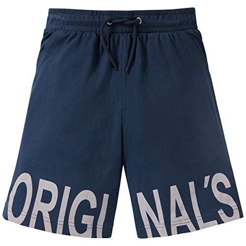 Schiesser Jungen Mix & Relax Longboxer Schlafanzughose, Blau (Blau 800), 140 (Herstellergröße: XS)