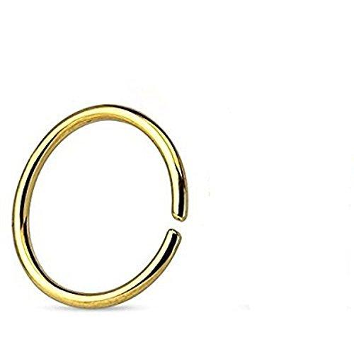 1MM x 6mm oro titanio anodizzato bordi arrotondati Ricotto senza saldatura Tragus, cartilagine o Setto Piercing