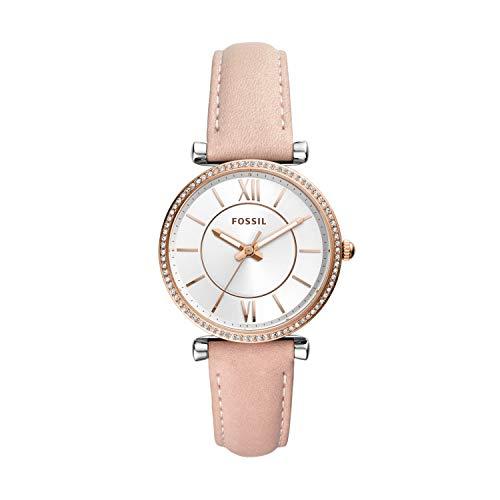 Fossil Damen Analog Quarz Uhr mit Leder Armband ES4484