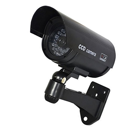 Buy Discount HOUTBY 3 X Simulated Black Fake Dummy Security CCTV Camera Waterproof IR LED Light Outd...