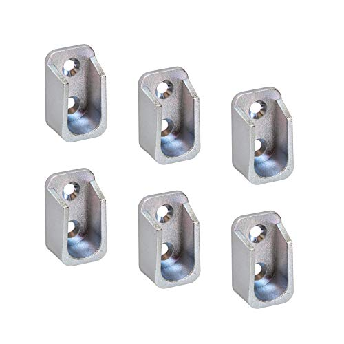 Schrankrohr-Aufhänger OVAL Schrankrohrlager für Kleiderstangen 30 x 15 mm - H7585 | Halterungen für Kleiderstangen | 6 Stück