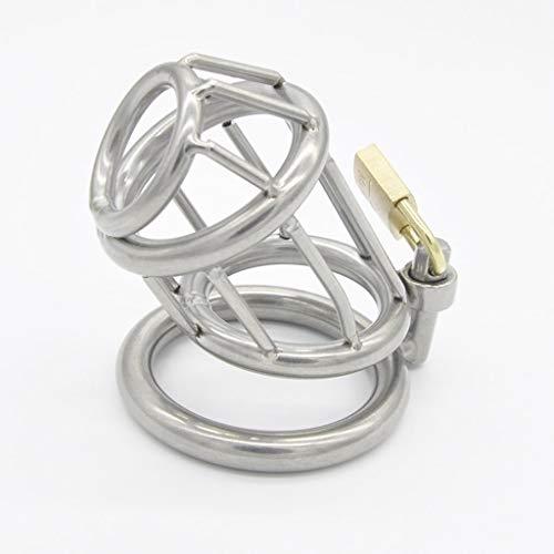 CJWWEI Mit hochwertigen kleinen Vorhängeschloss Herren Edelstahl Emaille Metall Chǎstīty Lock Device P-Ëňís Lock Herren Alternative Toys (Size : L)