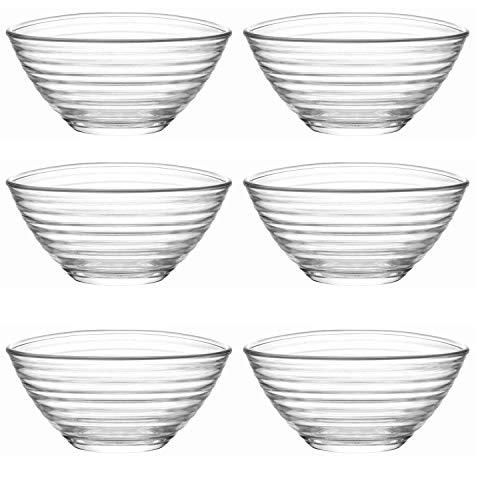 Lav Derin - Juego de 6 cuencos de cristal (300 ml)