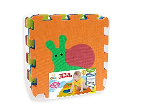 Teorema 72475 - Tappeto Puzzle con Animali, colori assortiti, 9 pezzi