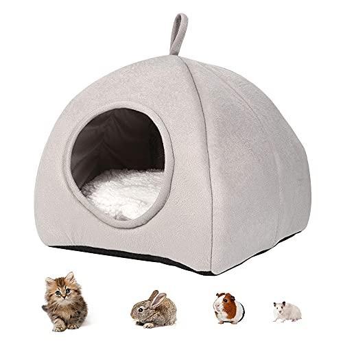 IWILCS Meerschweinchen-Bett,Warmes Winterbett Hamster Bett,Kleintierbett Hamster,Hamster Bett,Kleintierbett für Kleintiere, Eichhörnchen, Schlafnest, Baumwolle, Schlafhöhle für Ratten, Baby Chinchilla