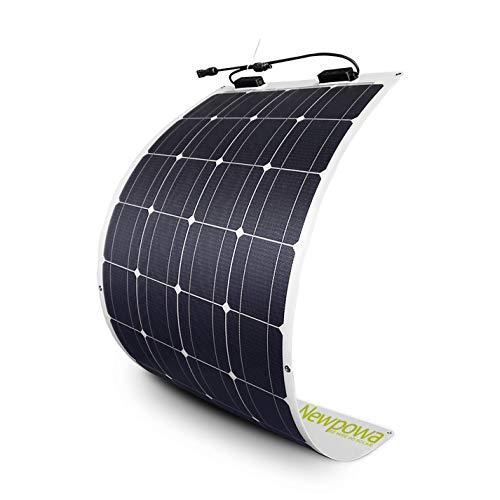 Newpowa 100W Flexibles Monokristallines Solarpanel für Wohnmobile, Autos, Boote, 12V Batterien (100W)