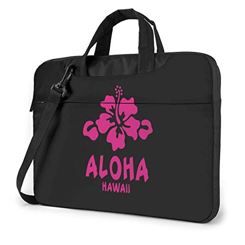 Portable Laptop Bag Sleeve Briefcase Aloha Hibiscus Flower Funny Laptop Case Laptop Shoulder Messenger Bag Sleeve 15.6 Inch