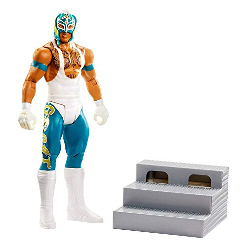 WWE Wrekkin' 6-inch Action Figure with Wreckable Accessory, Rey Mysterio