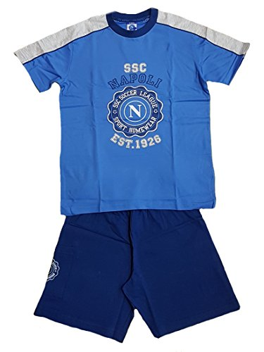 Pijama corto para niño SSC Napoli * 17877ropa oficial fútbol azul claro 14 años