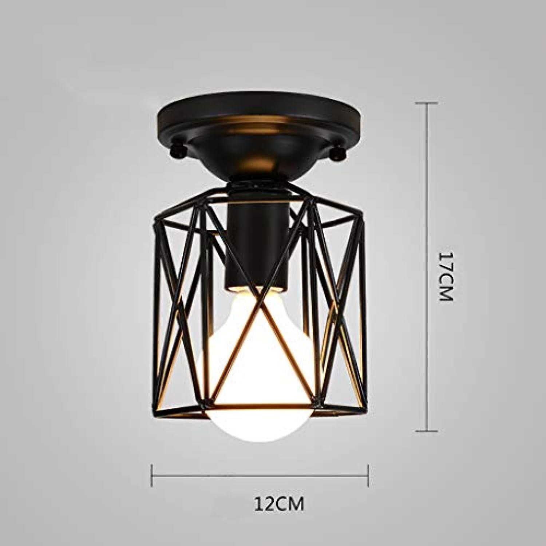 INTASDD Deckenleuchte Retro Eisen Industrial Style LOFT amerikanischen Deckenleuchten europischen Schlafzimmer Lampen (Farbe   A)