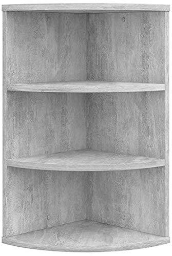 eSituro Estanter/ía de Ba/ño Bamb/ú Estante esquinera de pie para Cocina Sal/ón Librer/ía Soporte de Plantas con 4 Niveles 27 x 38 x 120 cm SBSS0006