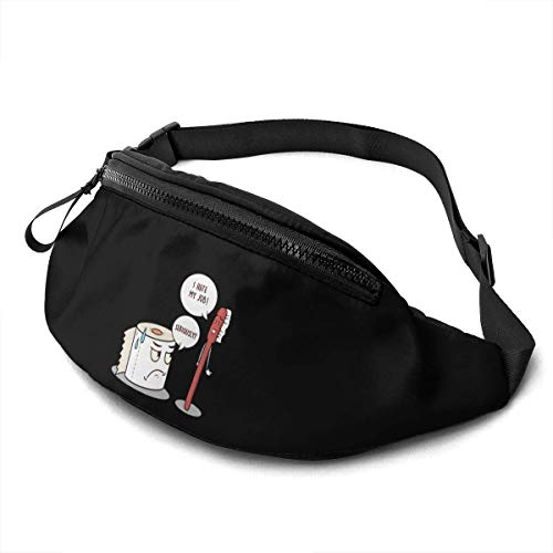 AOOEDM Waist Bag for Men Women, I Hate My Job Seriously Casual Outdoor Waist Bag for Workout Travel Hiking