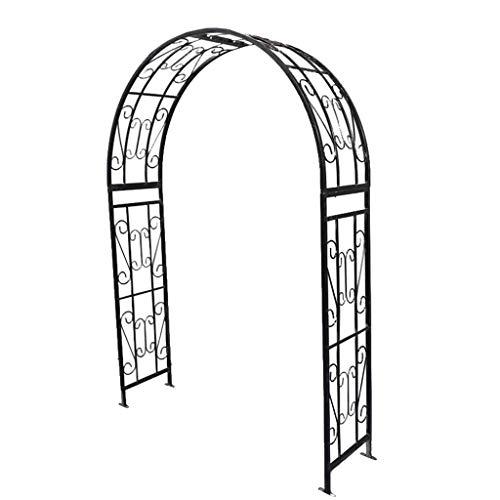 XLOO Metal Garden Arbor Wedding Arch,Climbing Plant Yard Stake,Outdoor Trellis Pergola,Arch with Planters,White Metal Arch Wedding Garden Bridal Party Decoration Arbor
