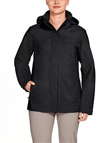 Jack Wolfskin Alpine, wetterfeste Damen-Jacke, Highland Women, Damen, 1109171, Schwarz, Size Short/X-Small