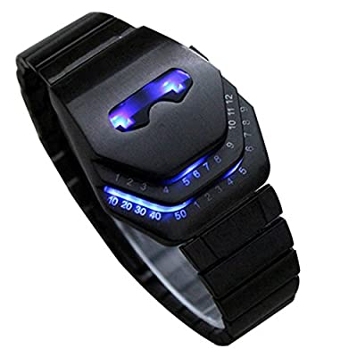 Vavna Men's Peculiar Cool Gadgets Interesting Amazing Snake Head Design Blue LED Watches WTH8021 from FunkyTop