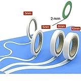 Veda® Set de 5curvados cinta adhesiva de carrocero...