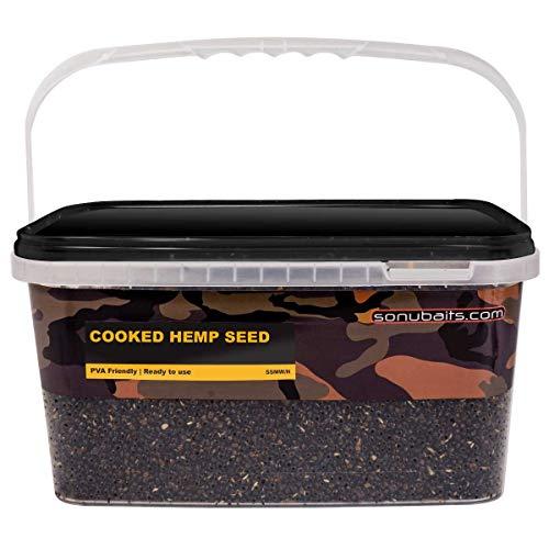 Sonubaits Cooked Hemp Mix 3kg Cooked Hemp Seed S0930001 Hanf Angelhanf Partikel Fertigpartikel