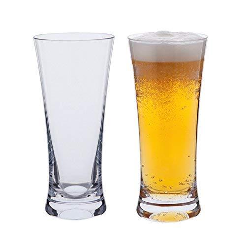DARTINGTON - Bicchiere da Birra, Confezione da 2 unità, in Vetro, qualità Eccellente da Bar, Colore: Trasparente