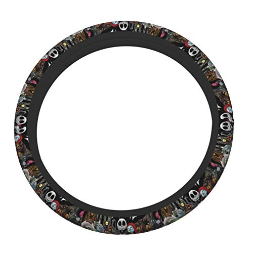 Zhaoyaqin1 Grinches-Jack-Skellington Steering Wheel Cover Non Slip, Breathable and Odor Free