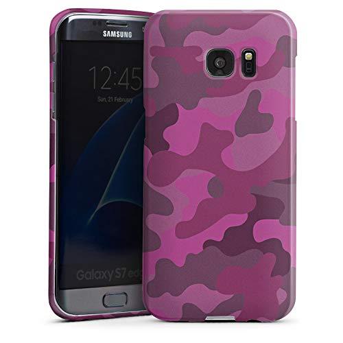 DeinDesign Premium Case Glänzend kompatibel mit Samsung Galaxy S7 Edge Hülle Handyhülle Camouflage Bundeswehr Muster