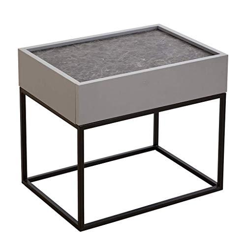 N/Z Équipement Quotidien Table de Chevet avec tiroirs Table de Chevet en métal Tables d'appoint Unité de Rangement de Table Basse Nordique Moderne pour Salon Chambre à Coucher (Couleur: D)