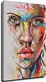 VVBGL Laminas para Cuadros Retrato Abstracto Pintura al óleo Lienzo de Gran tamaño Moderno Arte de P...