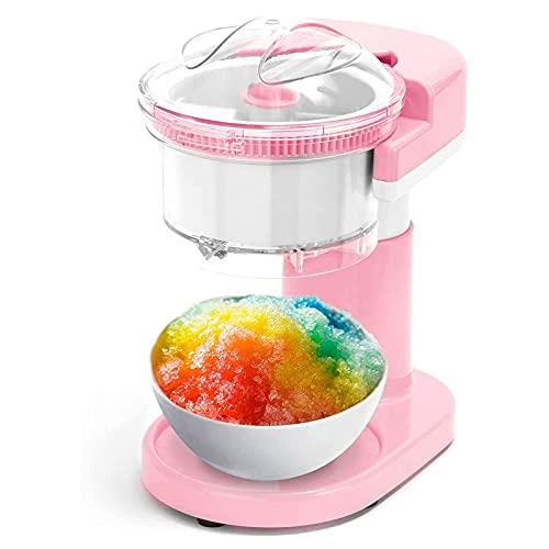 SFSGH Máquina de Hielo raspado + máquina de granizados con Cuchillas de Acero Inoxidable para Cono de Nieve, Margarita + cócteles congelados, orgánica, para niños y Adultos