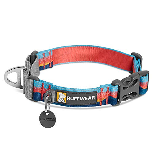 RUFFWEAR, Web Reaction Dog Collar, Martingale Collar for On-Leash Walking, Sunset, 14