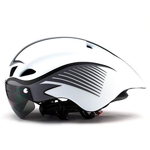 Casco da bicicletta, casco da bicicletta, con visiera magnetica staccabile, per donne, uomini, ciclismo, mountain bike e bici da strada, protezione di sicurezza per adulti e traspiranti,