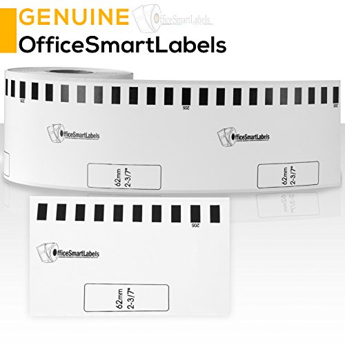OfficeSmartLabels Brother Compatible DK2113 DK-2113 Black on Clear Continuous Length Film Tape (2.4 in x 50 ft (62 mm x 15.2 m)) - Label With Permanent Cartridge (Non-Detachable) (Full Set) (1 Pack) Photo #4